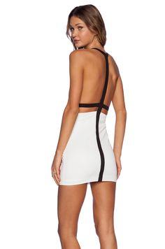 9260b3e3b94 AQ AQ Dion Mini Dress in Black  amp  Cream