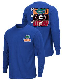 Florida Gators The Good Bad Ugly Royal Long Sleeve T Shirt $24.95