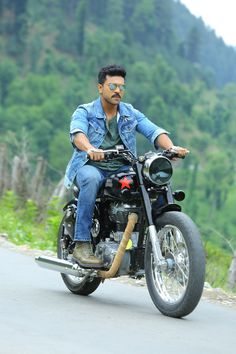 Charan's Bullet riding photo going viral