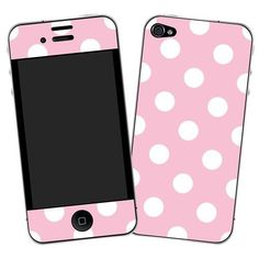 """White Polka Dot on Baby Pink """"Protective Decal Sk ($14.95)"""