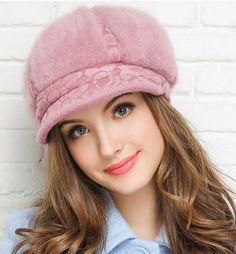 2015 Western Spring Cap Women Winter Warm Hat Rabbit Fur Woolen Hat For Woman Fashion Skullies Beanie Cap DM-AB