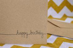 Birthday Card - hand birthday drawn card -  cards with envelope on Etsy by Everyday Summit #birthday