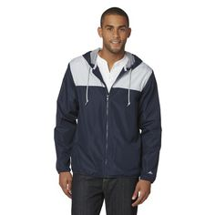 Athletech Men's Hooded Athletic Jacket - Colorblock