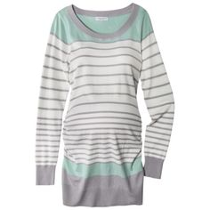 Liz Lange® for Target® Maternity Long-Sleeve Pullover Sweater - Blue/Gray