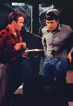 Before the Winchesters and their plaid shirts, there were Kirk and Spock...<--bahahaha