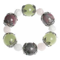 RESIN BRACELET W PASTEL BEADS Resin Bracelet, Beaded Bracelets, London Gift Shop, Unusual Jewelry, Beads, Pastel, Jewellery, Beading, Cake