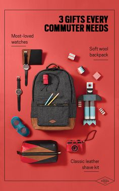 This holiday season, commute in style with Fossil's unique and durable products ready for any adventure! From soft-wool backpacks to classic leather shave kits, discover Fossil's collection of goods focused on heritage fabrics and custom hardware. Gift the man in your life with backpacks that have you feeling extra cool. Herschel Heritage Backpack, Everyday Carry, Classic Leather, Creative Gifts, Things To Buy, Mens Fashion, Fashion Bags, Fashion Backpack, Fossil