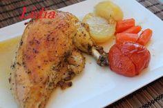 Receta del día: pollo de corral al horno