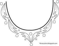 neckline design patterns - Google Search