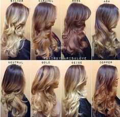 Some gorgeous variations with color in brunette hair!
