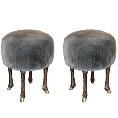 Pair of Stools by Marc Bankowsky | See more antique and modern Stools at https://www.1stdibs.com/furniture/seating/stools