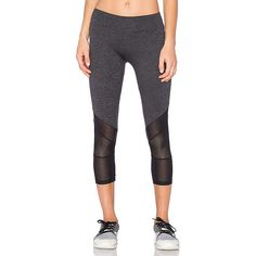 Lanston SPORT Mesh Combo Crop Leggings ($143) ❤ liked on Polyvore featuring activewear, activewear pants and lanston