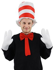 cool       £5.99  DELUXE CAT HAT SET. INCLUDES RED & WHITE STRIPEY HAT + WHITE 3 FINGER GLOVES + LARGE RED BOWTIE. ONE SIZEDELUXE CAT HAT FANCY D...  Check more at http://fisheyepix.co.uk/shop/deluxe-adults-cat-hat-fancy-dress-costume-accessory-set-red-white-stripe-hat-large-white-gloves-deluxe-red-bow-tie-book-week-movie-character-by-ilovefancydress/