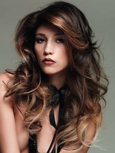 Wavy Long Hairstyles With Side Bangs