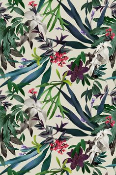 beardbrand:  January tropical print, Colourway 1, © LJNS  via asideproj