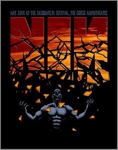 Nine Inch Nails Concert Poster (Sasquatch! Festival)