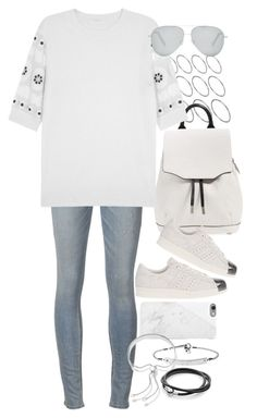 """""""Untitled #8502"""" by nikka-phillips ❤ liked on Polyvore featuring ASOS, rag & bone, Chloé, adidas Originals, Victoria Beckham, MICHAEL Michael Kors, Native Union, Monica Vinader, women's clothing and women's fashion"""