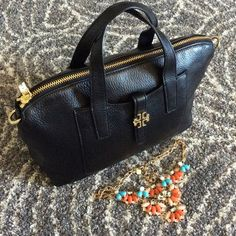 2d299fd6a73 Tory Burch Plaque Satchel I have an adorable Tory Burch satchel. In black  soft leather