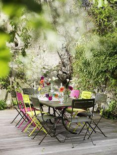 #Fermob  Ensemble de jardin Deauville, Slim en couleurs