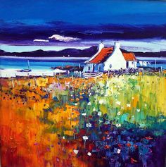 Scottish Gallery - landscapes and views oil on canvas paintings by Jean Feeney Watercolor Art Paintings, Paintings I Love, Canvas Paintings, Landscape Art, Landscape Paintings, South African Art, Cottage Art, Pictures To Paint, Art Gallery