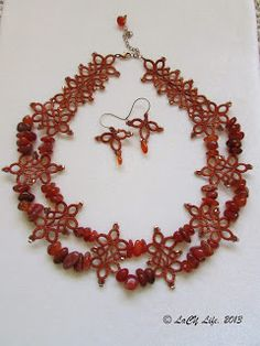 laCY life Tatted warm and joyful carnelian necklace!