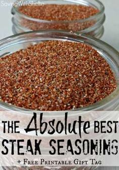 Try this recipe for our family's FAVORITE steak seasoning. We call it Magic Dust! Plus there's also a printable tag for easy gifting.