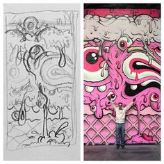buff monster - Google Search Graffiti Drawing, Graffiti Murals, Graffiti Lettering, Street Art Graffiti, Mural Art, Art Manifesto, Graffiti Pictures, Colorful Drawings, New Wall