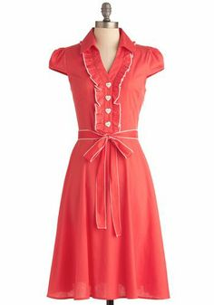 About the Artist Dress in Coral, #ModCloth