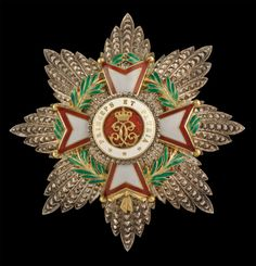Monaco - Order of St. Charles, Grand Cross breast star, in silver, with gold and enamelled centre,