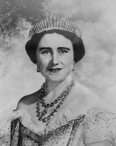 Lady Elizabeth Bowes-Lyon Vintage 8x10 Reprint Of Old Photo