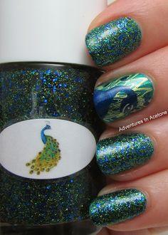The Nail Junkie Peacock + Nail Art!