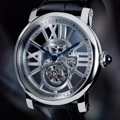 Rotonde de Cartier Skeleton Flying Tourbillon - Limited Edition Watches polished in 18 Carat White Gold