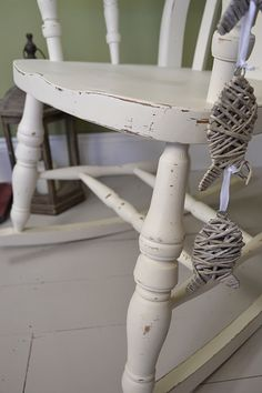 Weu0027ve Painted This Antique Pine Rocking Chair In Valspar Palest Satin And  Sanded Back