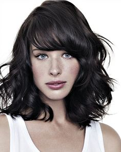 hairstyles for medium length hair with bangs Hairstyles for Medium Length Hair 2014