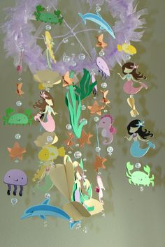 Mermaid ~ blue & green, starfish, under the sea, sea-foam. inspiration: aquamarine, little mermaid.