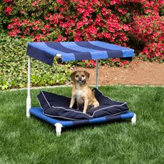 an outdoor pet bed