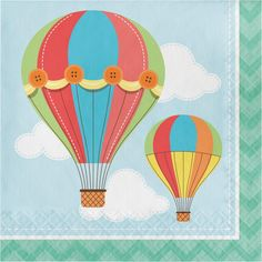 (192/case) Up, Up, & Away Lunch Napkins