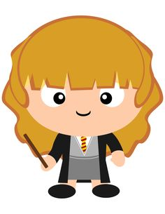 My favorite Harry Potter character. No. My favorite character all of time! Hermione Granger.  Check out our Harry Potter clipart collection in our new Etsy shop.