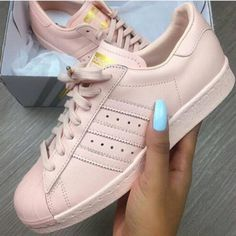 01f2938f2f73 pink sneakers pink rose rose gold adidas adidas shoes adidas superstars  shoes adidas originals adidas pale sneakers superstars adidas superstar  glossy peach ...
