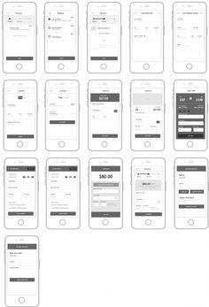 Checkout mobile screens