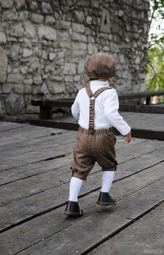 Boy shorts with suspenders Children boutique clothing by Nastiin