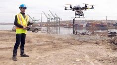 Top 10 Industries Being Revolutionized by Drones - With some of the biggest projects in Europe already using them for aerial surveying, drones are starting to form a vital component in the way construction companies plan, build and improve on major projects.