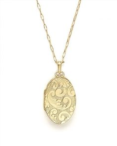 "4,150.00$  Watch here - http://vitsb.justgood.pw/vig/item.php?t=9vl0g0e58487 - Monica Rich Kosann 18K Yellow Gold Oval Floral Two Photo Locket Necklace, 30"" 4,150.00$"