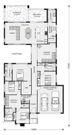 Tour Design, G. Gardner Homes - Custom Home Builders Home Design Floor Plans, House Floor Plans, Custom Home Builders, Custom Homes, Activity Room, Courtyard House, House Blueprints, Display Homes, Bedroom House Plans