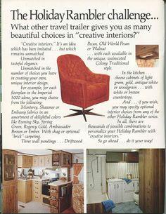 1977 Holiday Rambler creative interiors