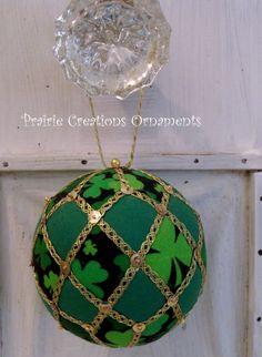 St Patrick's Shamrock Quilted Ball Kimekomi by MyPrairieCreations, $20.00 on etsy