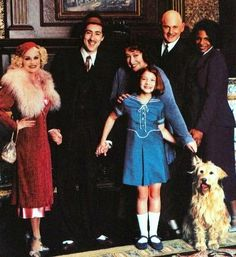 "The cast of the 1999 television version of ""Annie""."