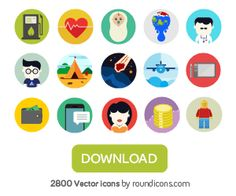 Flaticons: a free flat icon maker for your web projects.