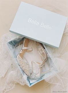 bella belle shoes bridal wedding shoes sheer embrodered high heels cross ankle strap dorsay pump -- Bella Belle Shoes