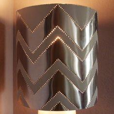 Make a Tin Punch Lamp Shade